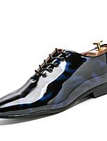 Для мужчин обувь Дерматин Весна Осень Удобная обувь Туфли на шнуровке Назначение Для вечеринки / ужина Черный Красный Синий
