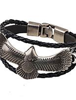 Муж. Жен. Кожаные браслеты Мода Хип-хоп Позолота Eagle Бижутерия Назначение Повседневные Для клуба