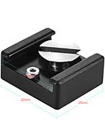 andoer zapata fría montaje adaptador soporte base con 1/4 tornillo de montaje para dslr cámara jaula flash led micrófono de luz (paquete