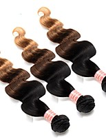 Ombre Hair Weaves Brazilian Texture Body Wave 12 Months Three-piece Suit hair weaves