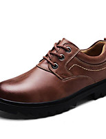 Men's Oxfords Comfort Spring Fall Cowhide Casual Dark Brown Light Brown Black 1in-1 3/4in