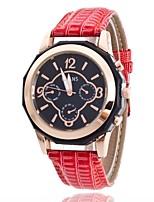 Mujer Reloj de Vestir Reloj de Moda Reloj de Pulsera Chino Cuarzo PU Banda Encanto Elegantes Casual Negro Azul Rojo Rosa Rose