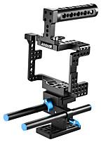 andoer protecteur de stabilisateur de cage de caméra vidéo avec poignée supérieure / barre de tige / plaque de base de 15 mm pour sony