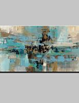 Ручная роспись Абстракция Горизонтальная,Абстракция Modern 1 панель Холст Hang-роспись маслом For Украшение дома