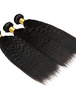 Натуральные волосы Бразильские волосы Человека ткет Волосы Яки Наращивание волос 3 Черный