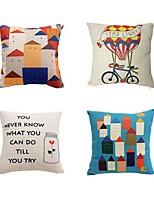 2 pcs Cotton/Linen Pillow case Bed Pillow Body Pillow Travel Pillow Sofa Cushion Pillow Cover,Mixed Color Classic Architecture Artistic