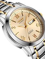 Herrn Mechanische Uhr Automatikaufzug Kalender Wasserdicht Nachts leuchtend Legierung Band Silber Gold