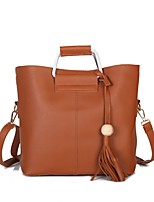 Women Bags All Seasons PU Shoulder Bag with for Event/Party Casual Formal Outdoor Office & Career Black Red Gray Brown