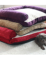 Dog Bed Pet Liners Solid Red Brown Purple