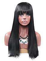 Women Synthetic Wig Capless Long Straight Black For Black Women Lolita Wig Party Wig Halloween Wig Carnival Wig Cosplay Wigs Natural Wig