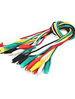 Dual - Head Crocodile Alligator Clip Test Lead Cable  10pcs 40cm