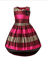 Girl's Casual/Daily Striped Dress,Cotton Polyester Spring Fall Sleeveless