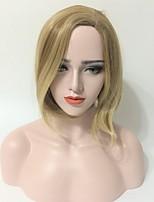 Mujer Pelucas sintéticas Sin Tapa Corto Liso Marrón Pelo reflectante/balayage Parte lateral Corte Bob Corte Pixie Peluca natural Peluca