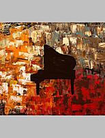 Pintada a mano Abstracto Artístico Abstracto Cool Un Panel Lienzos Pintura al óleo pintada a colgar For Decoración hogareña