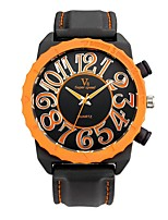 Hombre Reloj Deportivo Reloj de Pulsera Reloj Casual Chino Cuarzo / Silicona Caucho Banda Cosecha Casual Negro