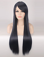 Women Synthetic Wig Capless Long Straight Blue Cosplay Wigs Costume Wig