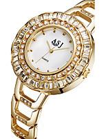 ASJ Жен. Модные часы Наручные часы Часы-браслет Японский Кварцевый сплав Группа Серебристый металл Золотистый