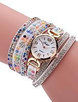 Жен. Модные часы Часы-браслет Имитационная Четырехугольник Часы Китайский Кварцевый PU Группа Винтаж Повседневная Элегантные часы Черный
