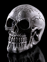 1pc Хэллоуин смолы черепа дома избежать ужаса реквизит украшения