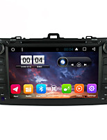 2 din capacitive touch lcd voiture dvd player android 6.0 pour toyota corolla 2006-2013