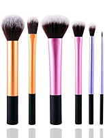 6PCS Contour Brush Makeup Brush Set Blush Brush Eyeshadow Brush Brow Brush Eyeliner Brush Concealer Brush Powder Brush Foundation Brush