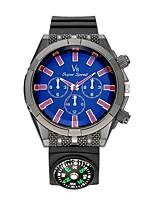 Муж. Спортивные часы Наручные часы Повседневные часы Китайский Кварцевый Compass силиконовый Pезина Группа Повседневная Черный