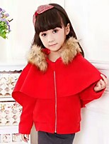Girls' Solid Jacket & Coat,Cotton Acrylic All Seasons Long Sleeve