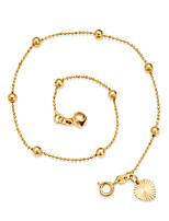 Mujer Brazalete tobillo/Pulseras y Brazaletes Chapado en Oro Ajustable Estilo Simple Forma de Círculo Forma Redonda Joyas Para Noche Playa