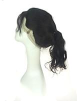onda de cuerpo lujosa 360 cordón de la venda tapa frontal nudos blanqueados oído a la oreja 360 cordones cerrados frontales con color