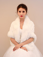Women's Wrap Shawls Faux Fur Wedding Party/ Evening Printing Ruching