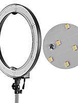 andoer rl-680b 18.9 / 48cm 55w dimmable 5500k macro led vidéo anneau lumière lampe 240pcs perles w / blanc orange filtre 175cm / 5.7ft