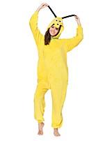 Кигуруми Пижамы Dog трико/Комбинезон-пижама Фестиваль / праздник Нижнее и ночное белье животных Хэллоуин Желтый Животное Кигуруми Для