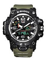 Hombre Reloj Deportivo Reloj Smart Reloj de Pulsera Reloj digital Suizo Digital LED Calendario Cronógrafo Resistente al Agua Dos Husos