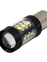 2x белый p21w 1156 ba15s 3030 16 smd led задний запас резервный запас drl свет 12-24v