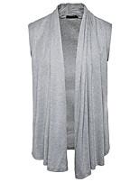 Men's Casual/Daily Simple Regular Cardigan,Solid Cowl Neck Long Sleeves Polyester Fall Winter Medium Micro-elastic