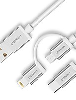 USB 2.0 Connect Cable, USB 2.0 to USB 2.0 Type C Micro USB 2.0 Lightning Connect Cable Male - Male 1.5m(5Ft)