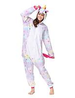 Кигуруми Пижамы Unicorn трико/Комбинезон-пижама Фестиваль / праздник Нижнее и ночное белье животных Хэллоуин Лиловый Животное Кигуруми Для