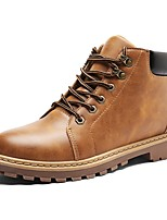 Men's Boots Driving Shoes Formal Shoes Fashion Boots Bootie Spring Fall Synthetic Microfiber PU Outdoor Office & Career Lace-up Flat Heel