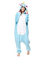 Кигуруми Пижамы Unicorn трико/Комбинезон-пижама Фестиваль / праздник Нижнее и ночное белье животных Хэллоуин Синий Животное Кигуруми Для