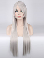 Women Synthetic Wig Capless Long Straight Silver Cosplay Wigs Costume Wig