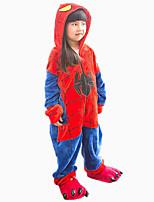 Kigurumi Pyjamas Spider Gymnastikanzug/Einteiler Schuhe Fest/Feiertage Tiernachtwäsche Halloween Modisch Einheitliche Farbe Bestickt