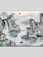Ручная роспись Пейзаж 1 панель Холст Hang-роспись маслом For Украшение дома