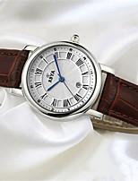 Жен. Модные часы Кварцевый Календарь Кожа Группа Белый Красный Коричневый