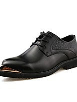 Men's Shoes Synthetic Microfiber PU Spring Fall Comfort Formal Shoes Driving Shoes Oxfords Lace-up For Party & Evening Office & Career