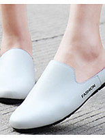 Women's Shoes PU Summer Comfort Clogs & Mules For Casual Black White