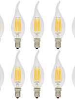 6W LED лампы накаливания CA35 6 COB 560 lm Тёплый белый Холодный белый Декоративная AC 220-240 V 10 шт. E14