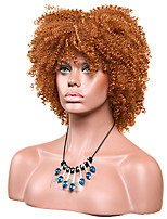 Women Synthetic Wig Capless Short Afro Jheri Curl Medium Auburn African American Wig For Black Women Lolita Wig Party Wig Halloween Wig