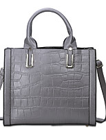 Women Bags All Seasons PU Shoulder Bag with for Casual Office & Career Black Gray Light Purple