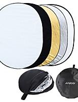 andoer 35 * 47/90 * 120cm ovalado 5 en 1 (oro blanco plateado negro translúcido) multi plegable portátil estudio foto fotografía luz