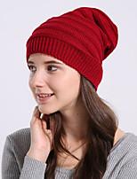 Для женщин Узор Широкополая шляпа,Весна/осень Зима Акрил Однотонный Чистый цвет